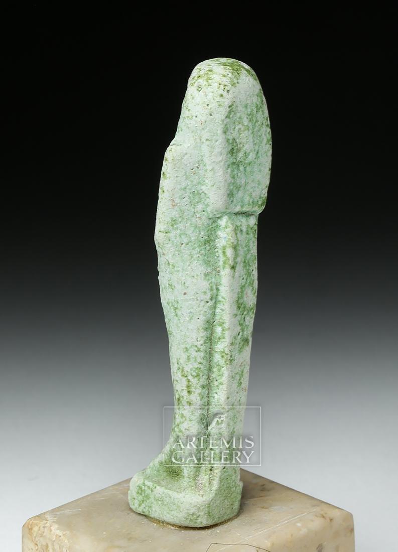 Egyptian Late Dynastic Period Green Faience Ushabti - 3