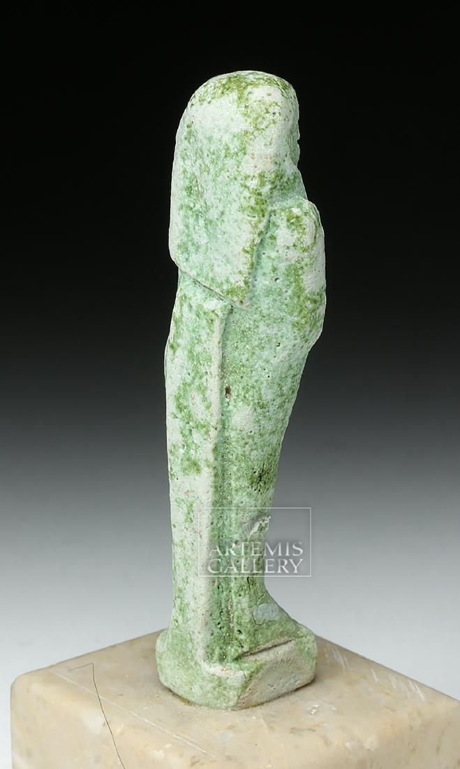 Egyptian Late Dynastic Period Green Faience Ushabti - 4