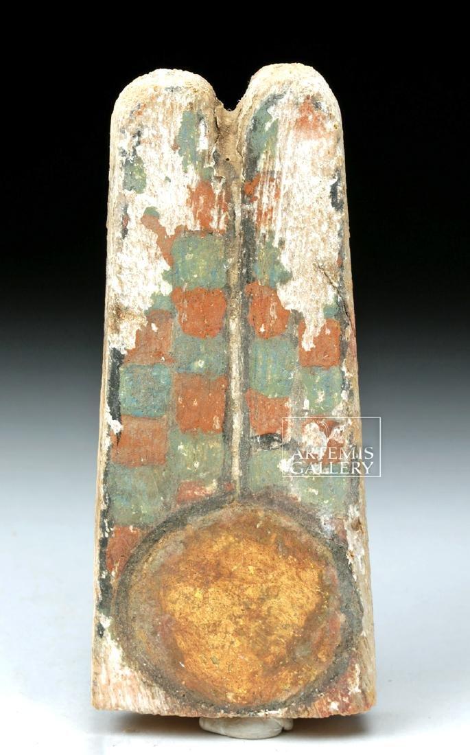 Egyptian Ptah Sokar Wooden Headdress Plume