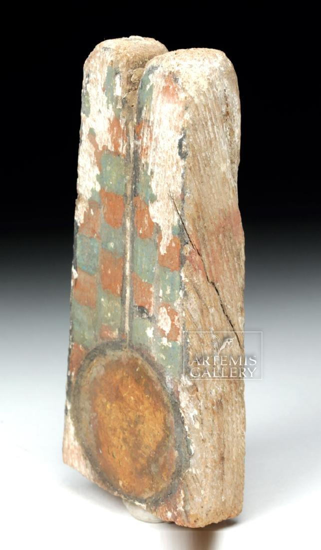 Egyptian Ptah Sokar Wooden Headdress Plume - 2