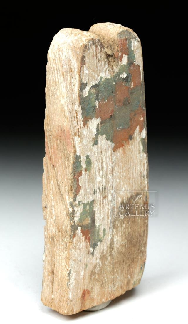 Egyptian Ptah Sokar Wooden Headdress Plume - 3