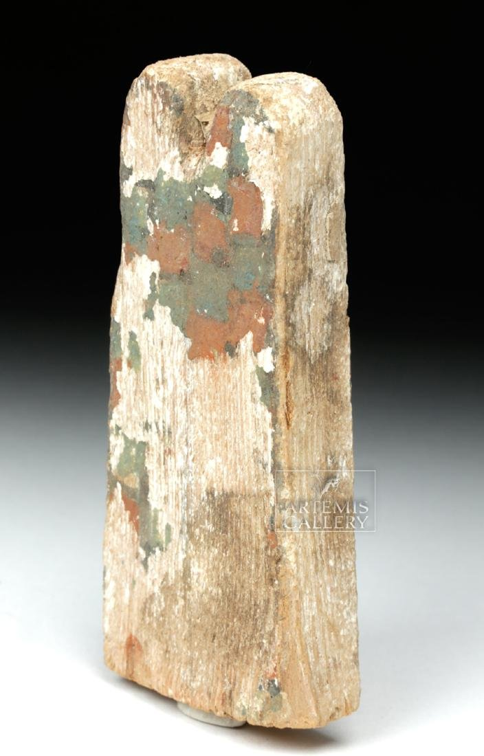 Egyptian Ptah Sokar Wooden Headdress Plume - 4