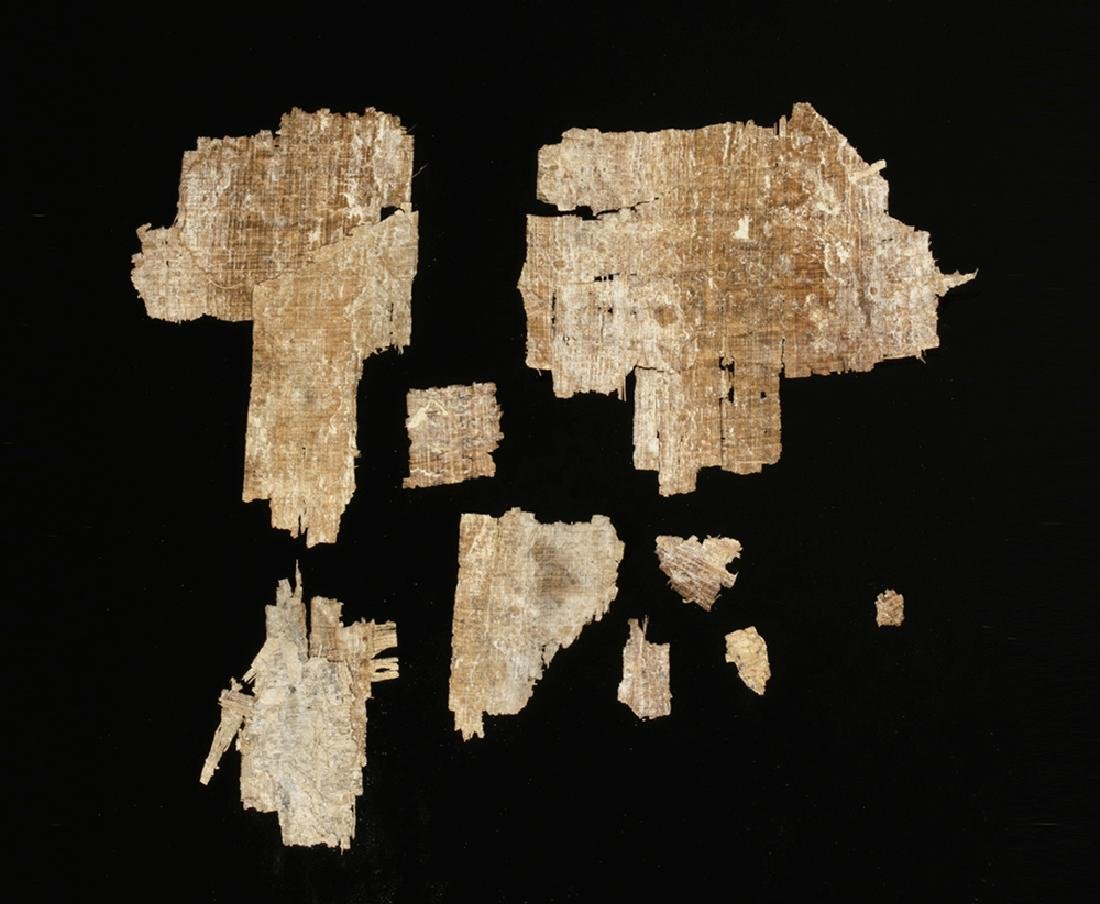 Egyptian Papyrus Fragments - Greek / Demotic Script - 2