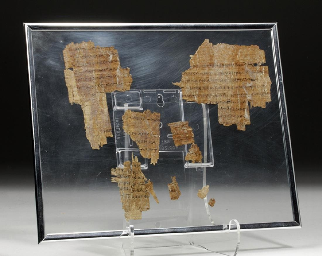 Egyptian Papyrus Fragments - Greek / Demotic Script - 3