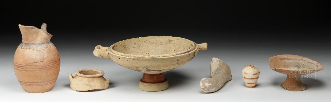 Six Ancient Greek Pottery Pieces / Fragments