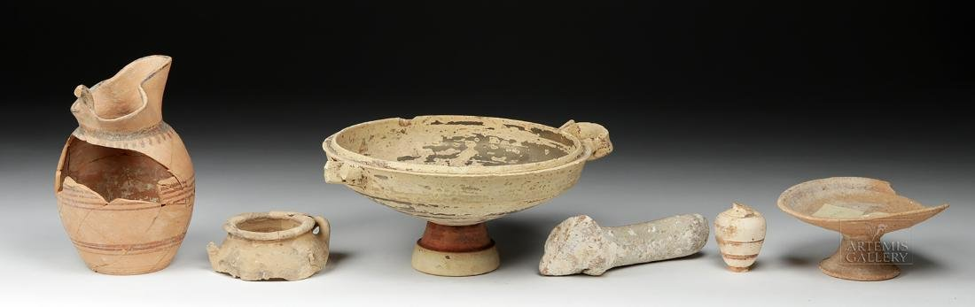 Six Ancient Greek Pottery Pieces / Fragments - 3