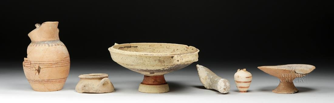 Six Ancient Greek Pottery Pieces / Fragments - 4