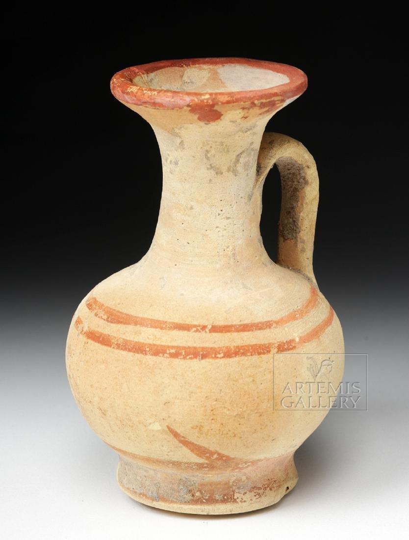 Greek South Italic Pottery Bichrome Oinochoe