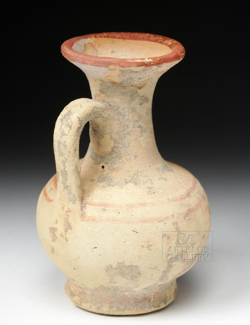Greek South Italic Pottery Bichrome Oinochoe - 3
