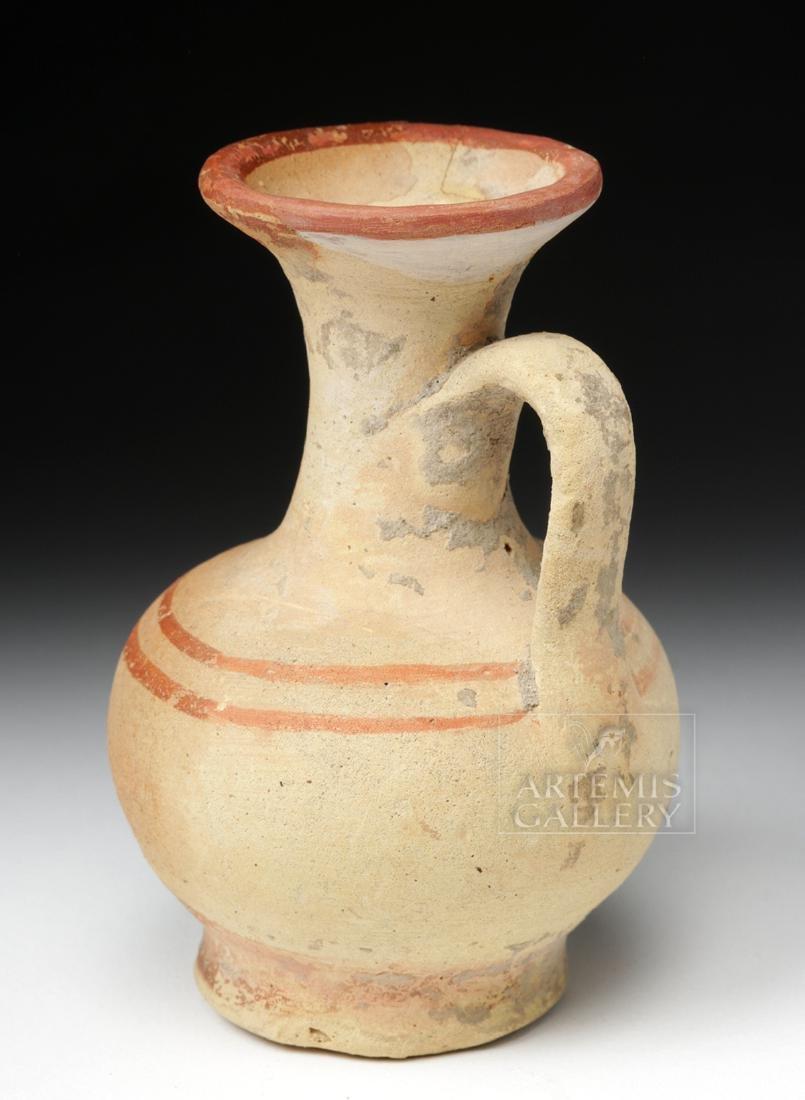 Greek South Italic Pottery Bichrome Oinochoe - 4