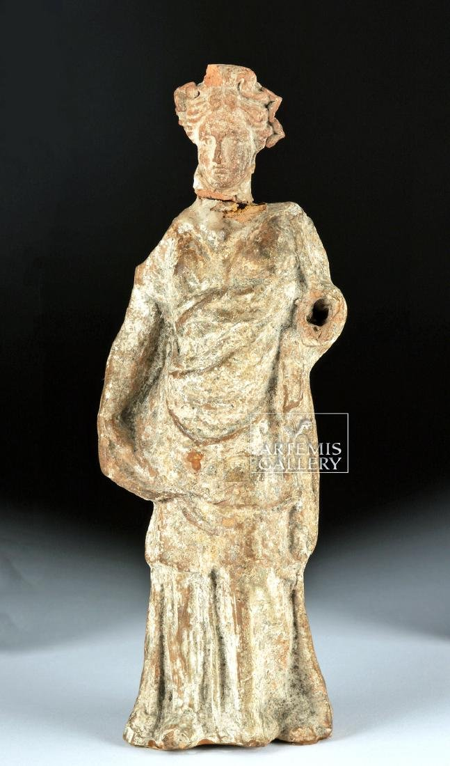 Greek Tenagran Figure of Woman, ex-Bonhams