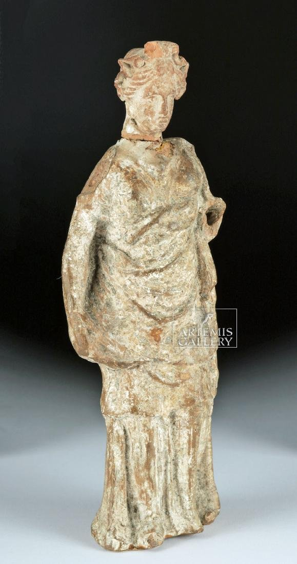 Greek Tenagran Figure of Woman, ex-Bonhams - 2
