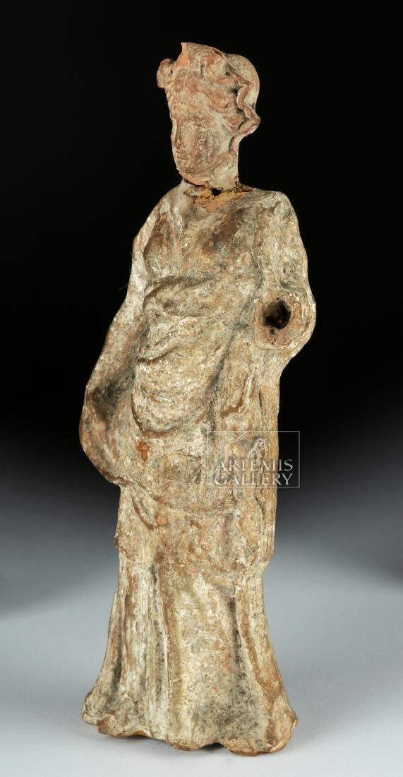 Greek Tenagran Figure of Woman, ex-Bonhams - 5