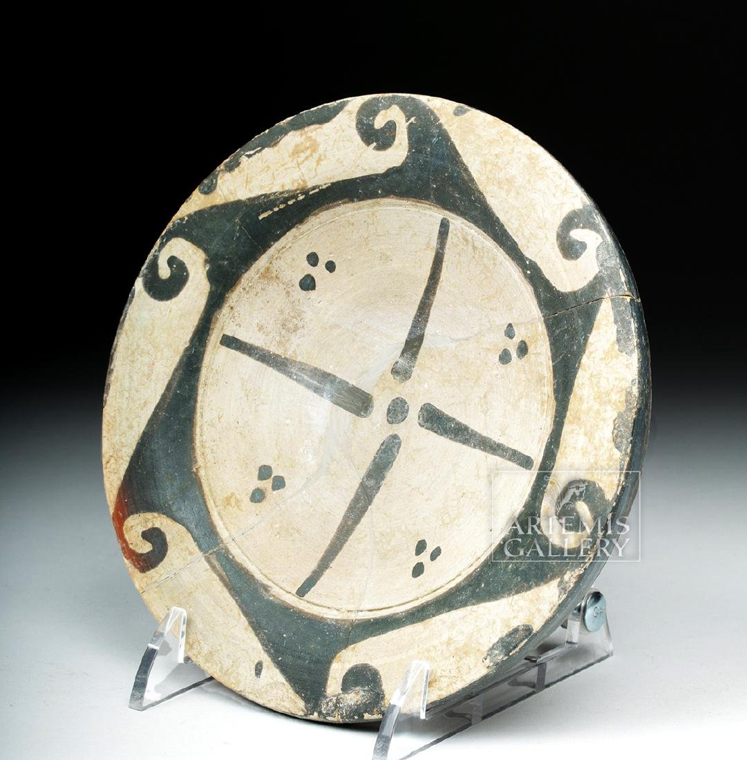 Etruscan Genucilia Group Pottery Pedestal Plate - 5