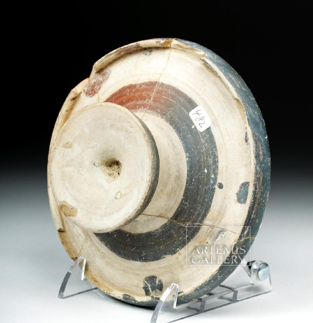 Etruscan Genucilia Group Pottery Pedestal Plate - 6