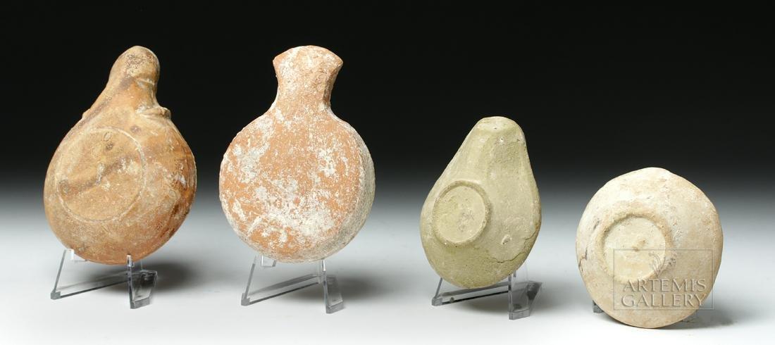 Lot of 4 Ancient Roman / Byzantine Terracotta Oil Lamps - 3
