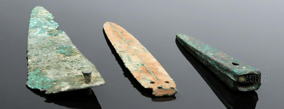 Trio of Ancient Near East Small Bronze Weapons - 4