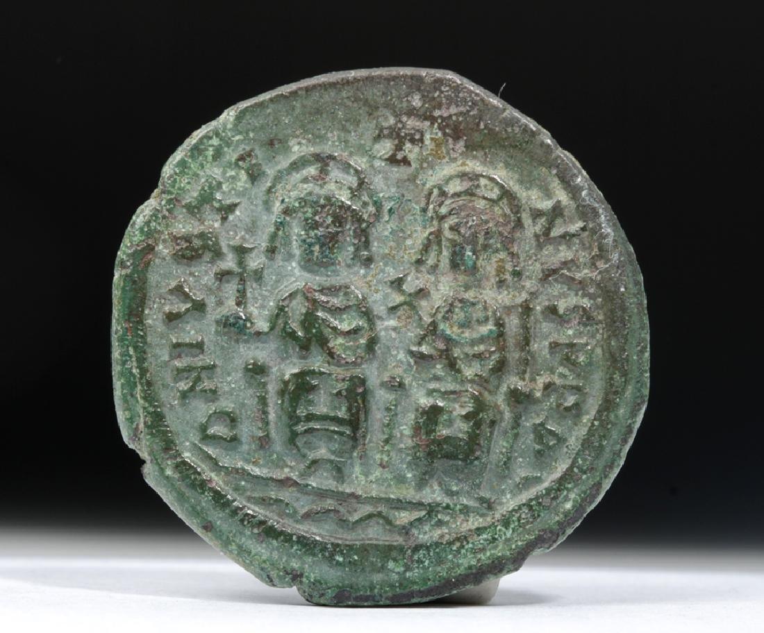 Byzantine AE Bronze Coin of Justin II - 2