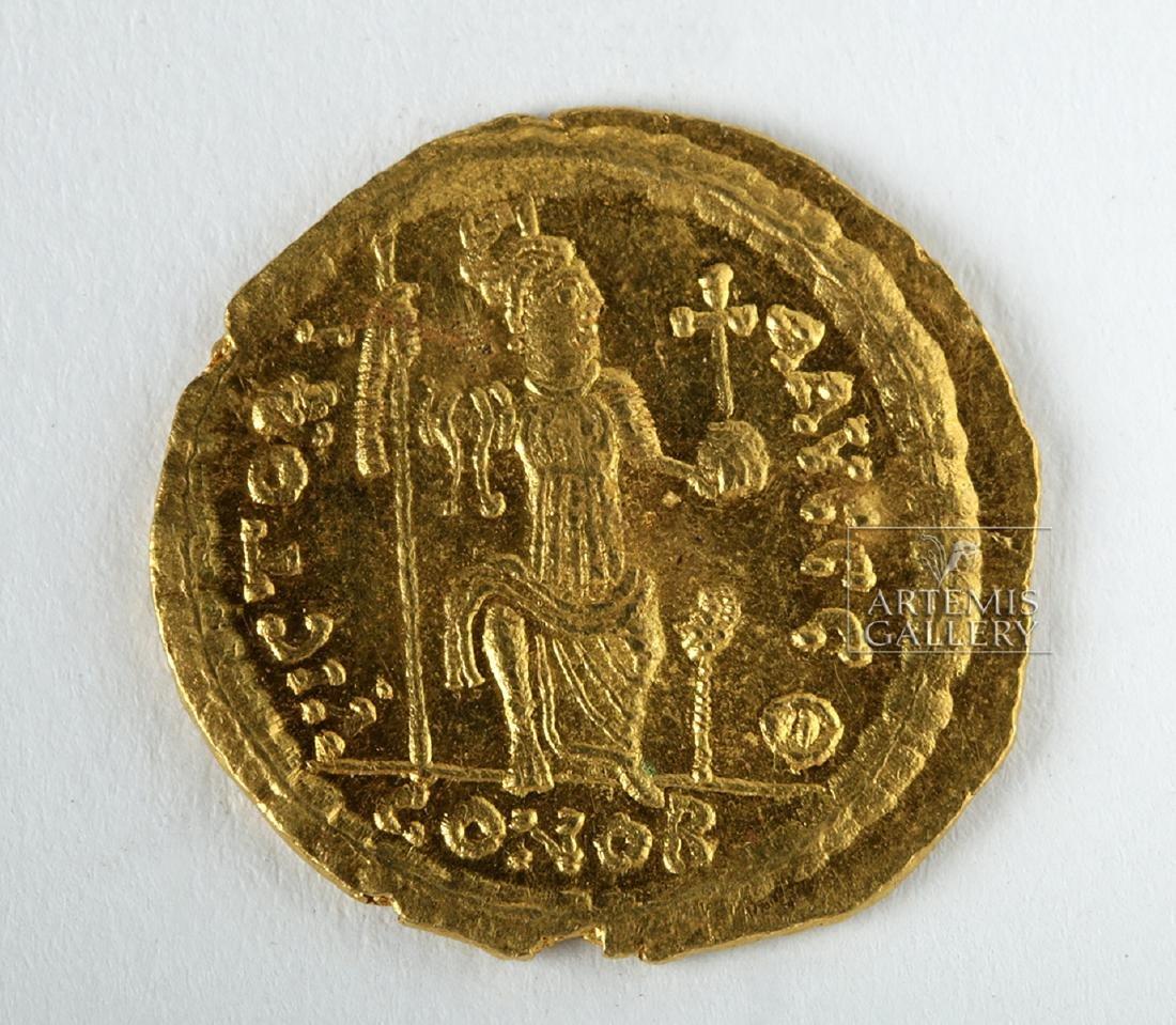Byzantine Gold AU Solidus Emperor Justin II - 4.6 g - 2