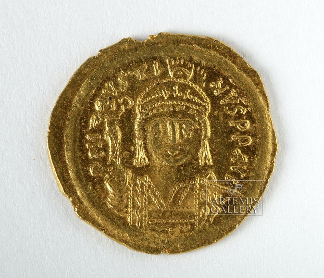 Byzantine Gold AU Solidus Emperor Justin II - 4.6 g - 3
