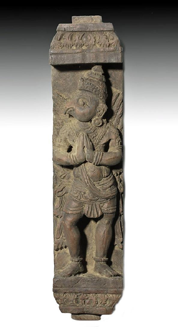 18th C. Nepalese Wood Panel with Garuda
