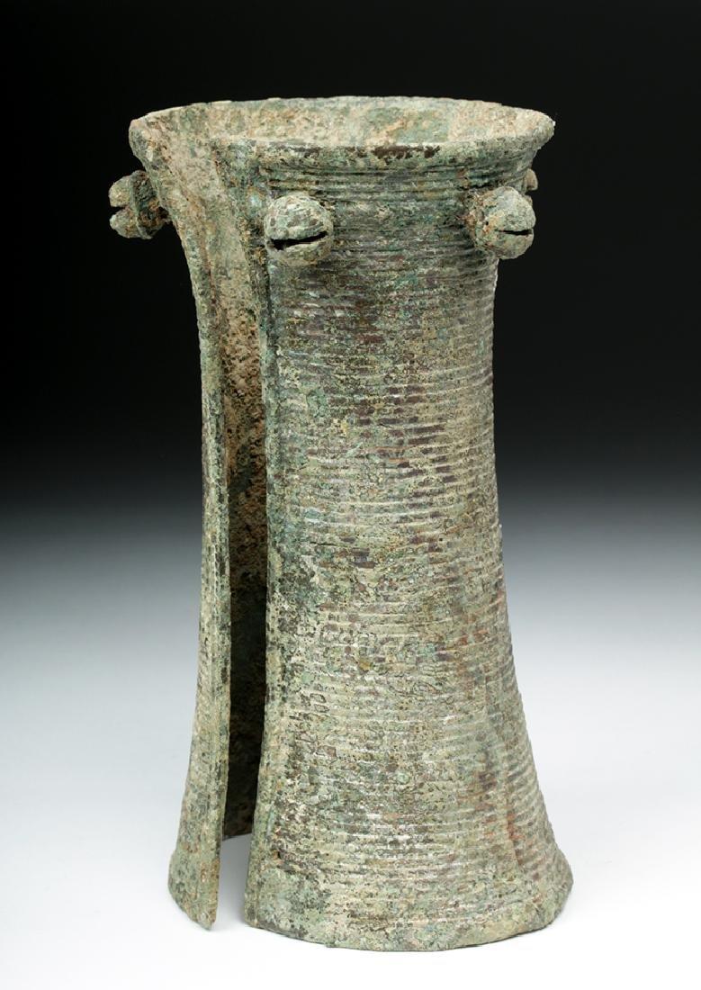 Ancient Vietnamese Dong Son Bronze Bell Armlet - 3