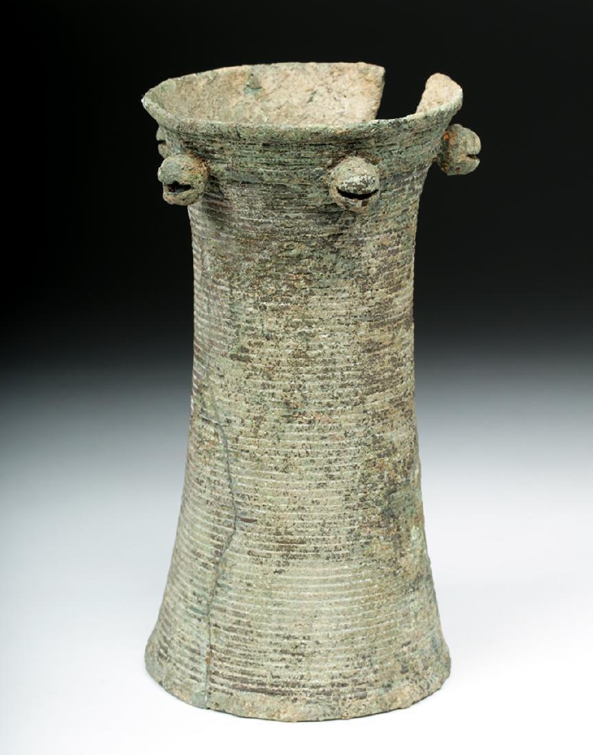 Ancient Vietnamese Dong Son Bronze Bell Armlet - 4