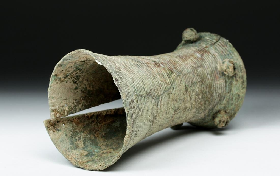 Ancient Vietnamese Dong Son Bronze Bell Armlet - 5