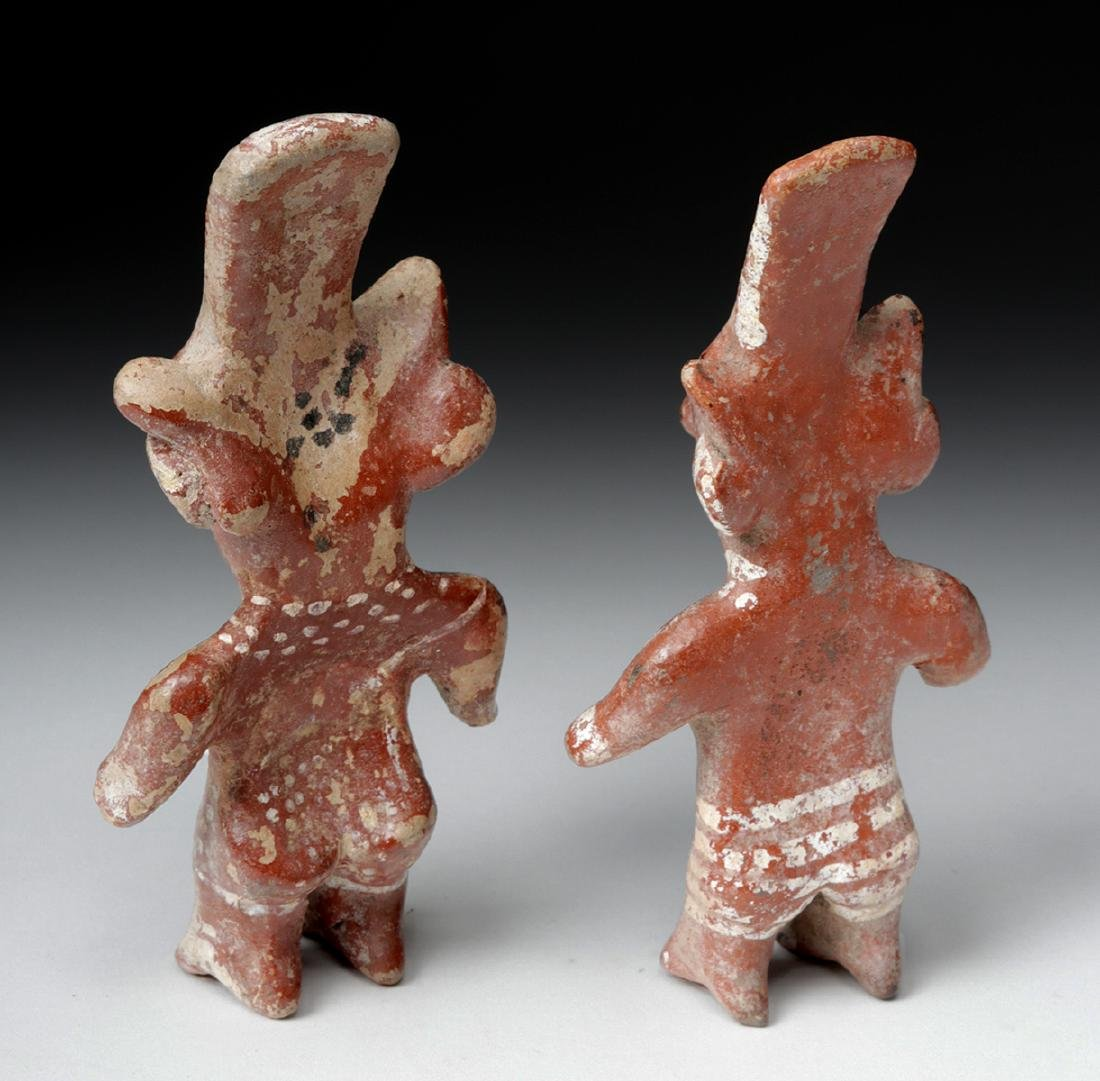 Pair of Jalisco Pottery Standing Sheepface Figures - 3