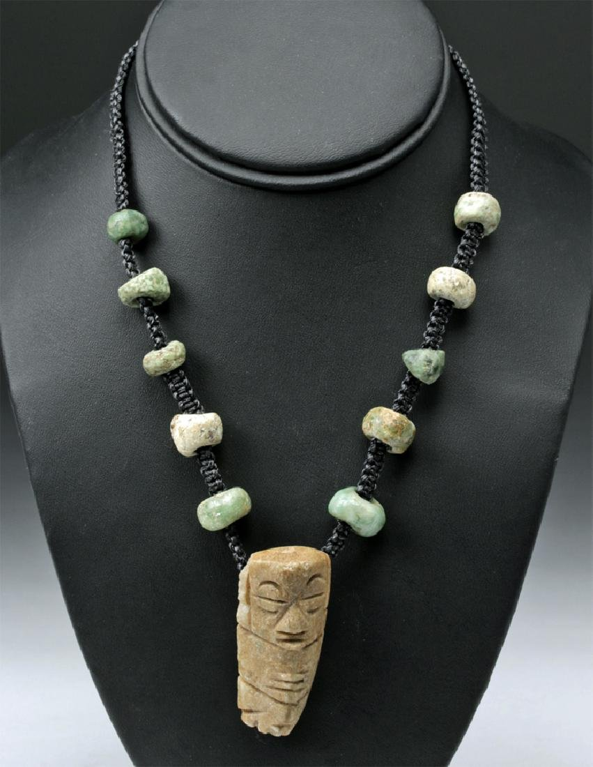 Mayan & Mixtec Stone Macrame Necklace