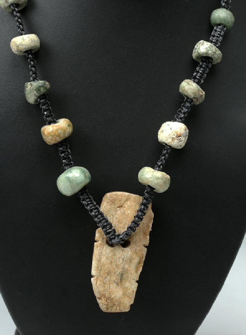 Mayan & Mixtec Stone Macrame Necklace - 4