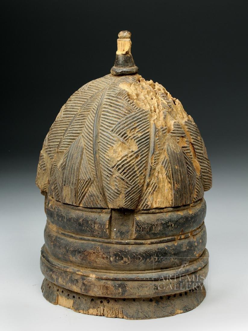 20th C. Mende Bundu Wooden Helmet Mask - 3