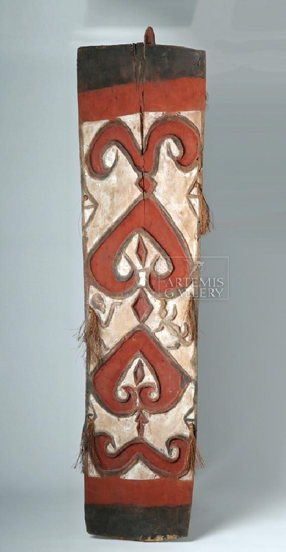 20th C. Large Papua New Guinea Wood Shield