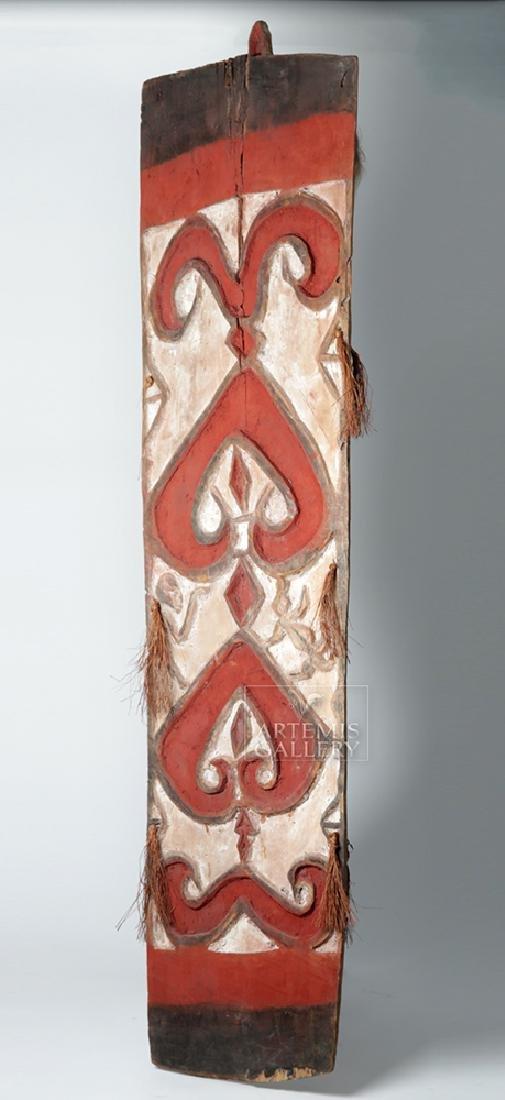 20th C. Large Papua New Guinea Wood Shield - 2