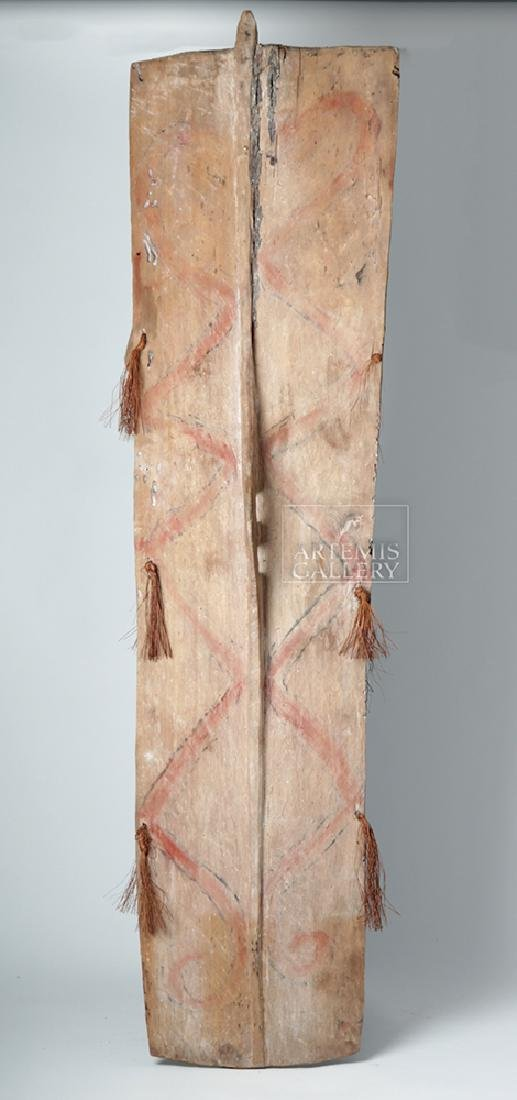 20th C. Large Papua New Guinea Wood Shield - 3