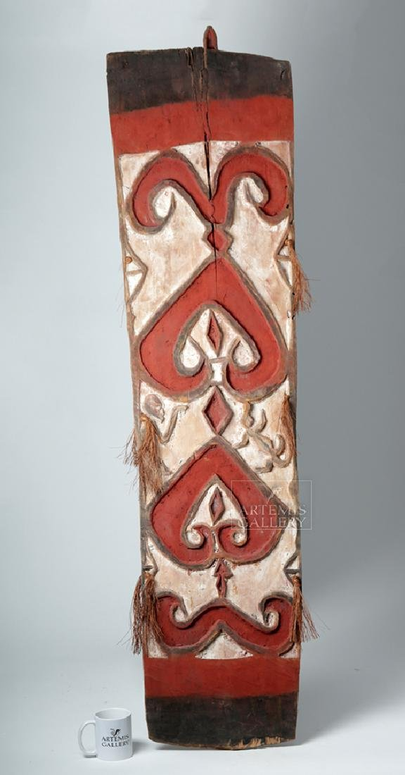 20th C. Large Papua New Guinea Wood Shield - 4