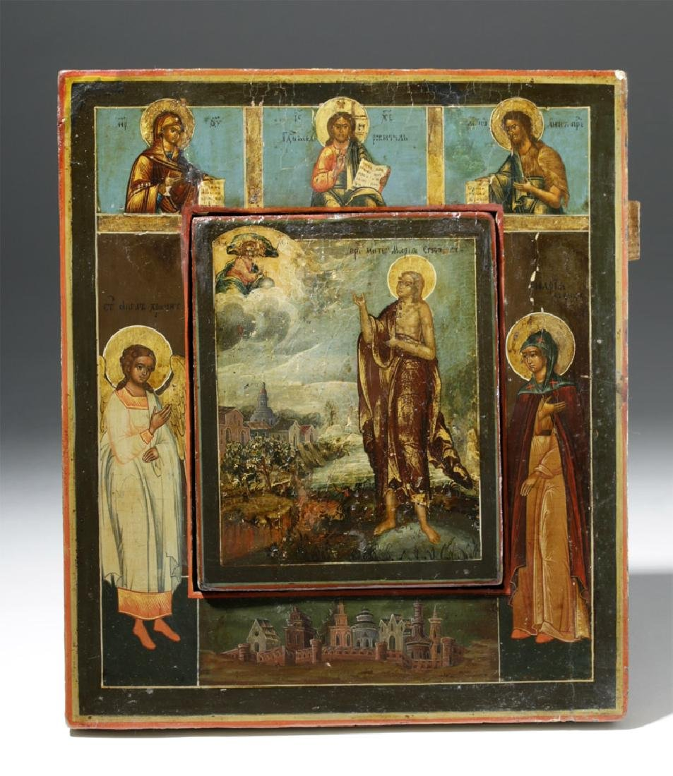 Rare 19th C. Russian Icon - Mary of Egypt