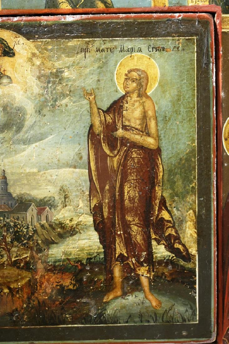 Rare 19th C. Russian Icon - Mary of Egypt - 2
