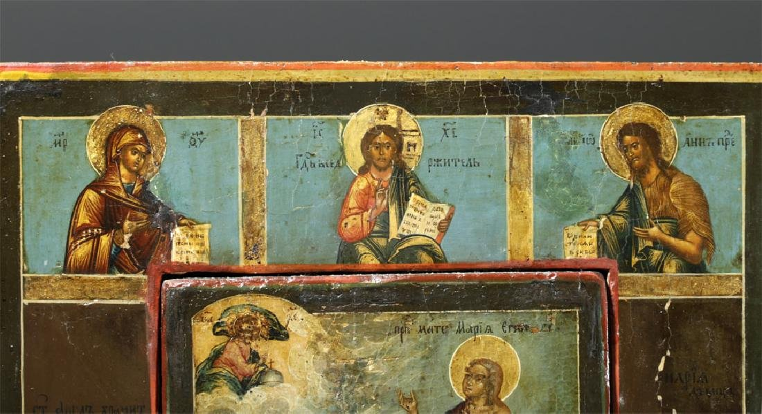 Rare 19th C. Russian Icon - Mary of Egypt - 3