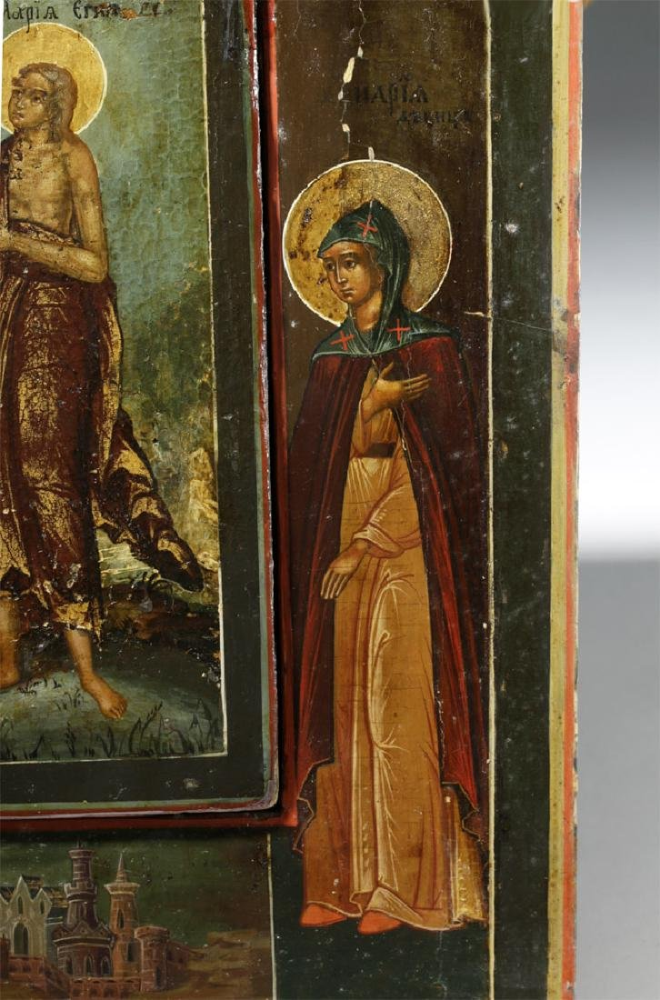 Rare 19th C. Russian Icon - Mary of Egypt - 4