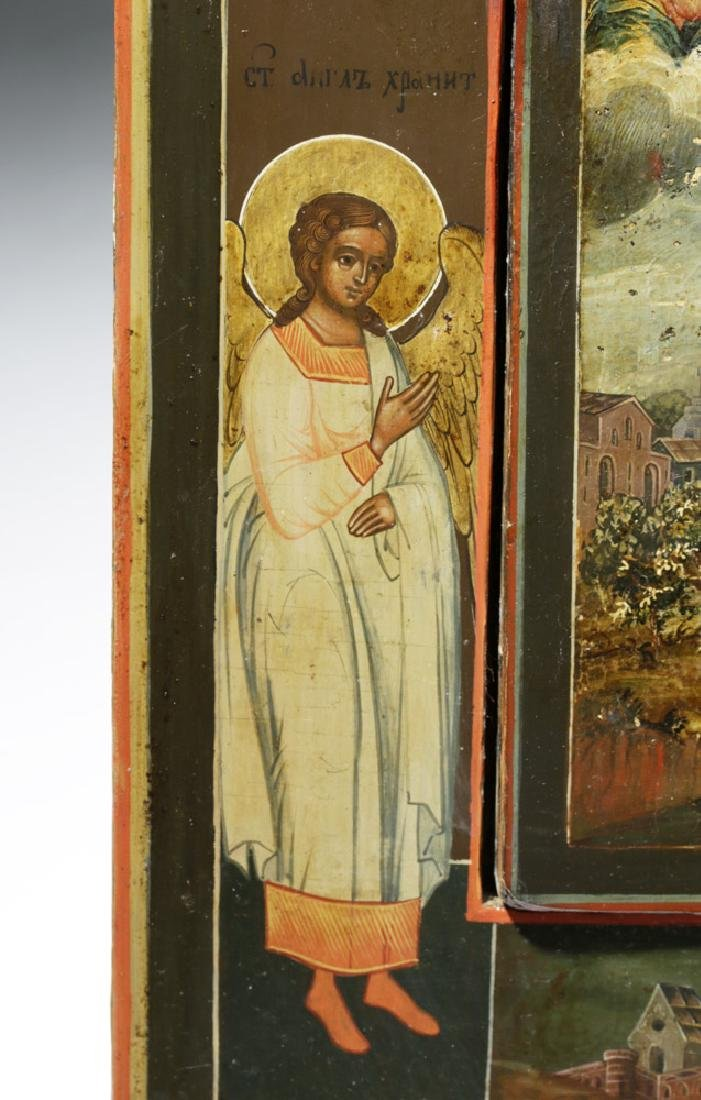 Rare 19th C. Russian Icon - Mary of Egypt - 5