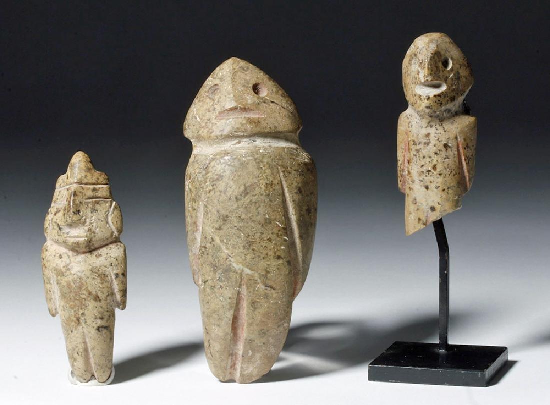 Trio of Guerrero / Mezcala Stone Figures