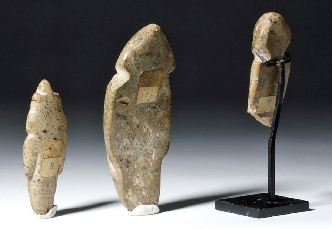 Trio of Guerrero / Mezcala Stone Figures - 3