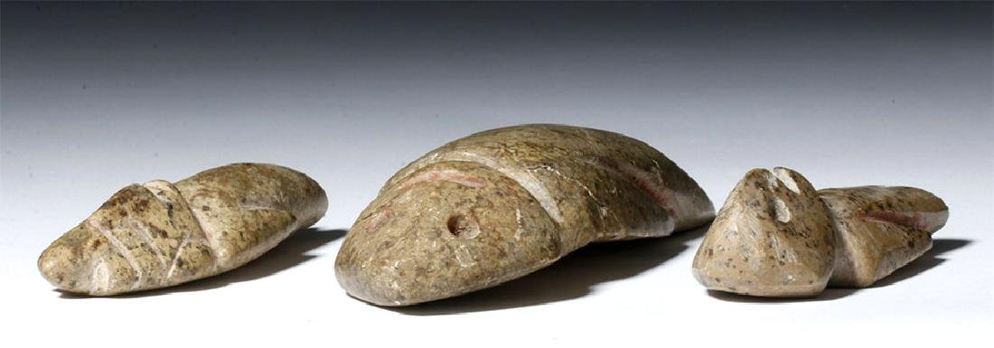 Trio of Guerrero / Mezcala Stone Figures - 7
