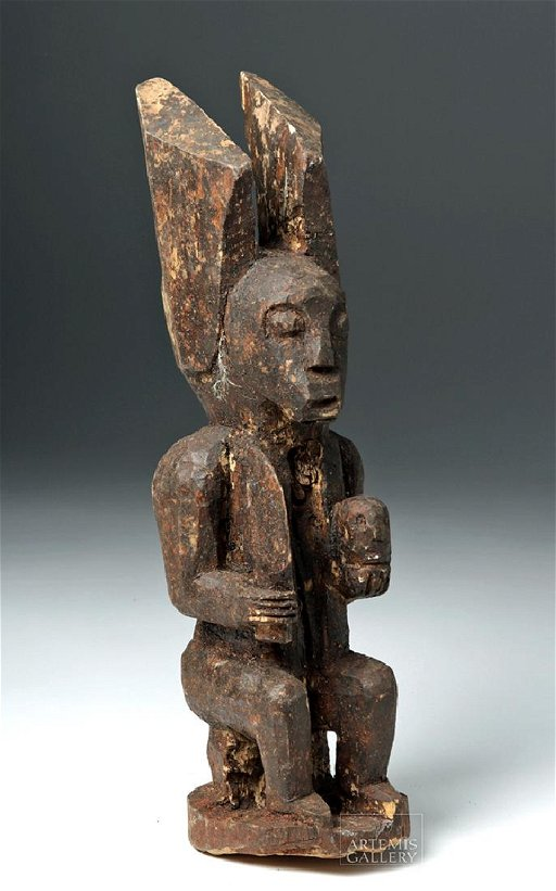Cool Mid 20Th C African Igbo Wood Seated Ikenga Figure Aug 27 Forskolin Free Trial Chair Design Images Forskolin Free Trialorg