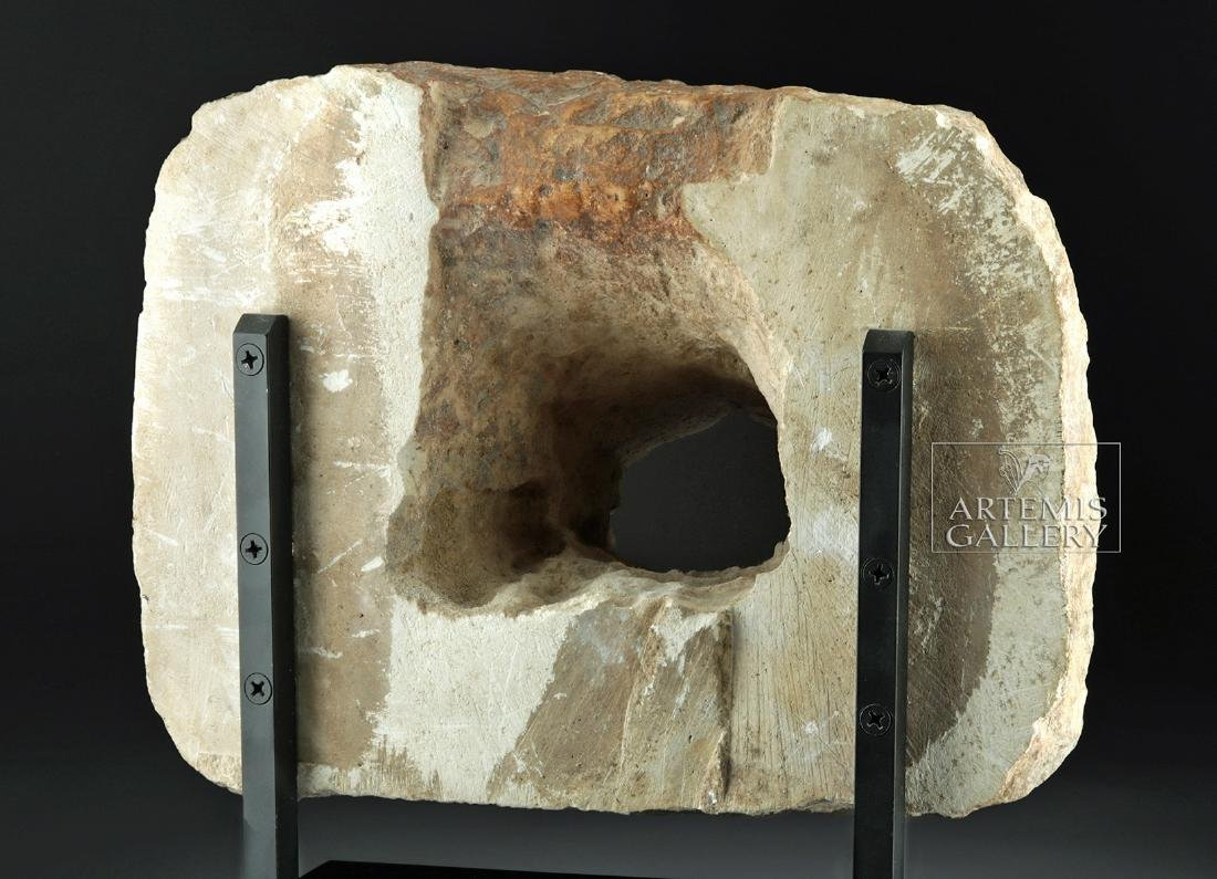 Large / Impressive Roman Stone Lion Head Spout - 4