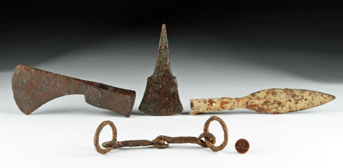 Viking Hoard - Iron Sword, Bit, Spear, Axe, & Chisel - 2