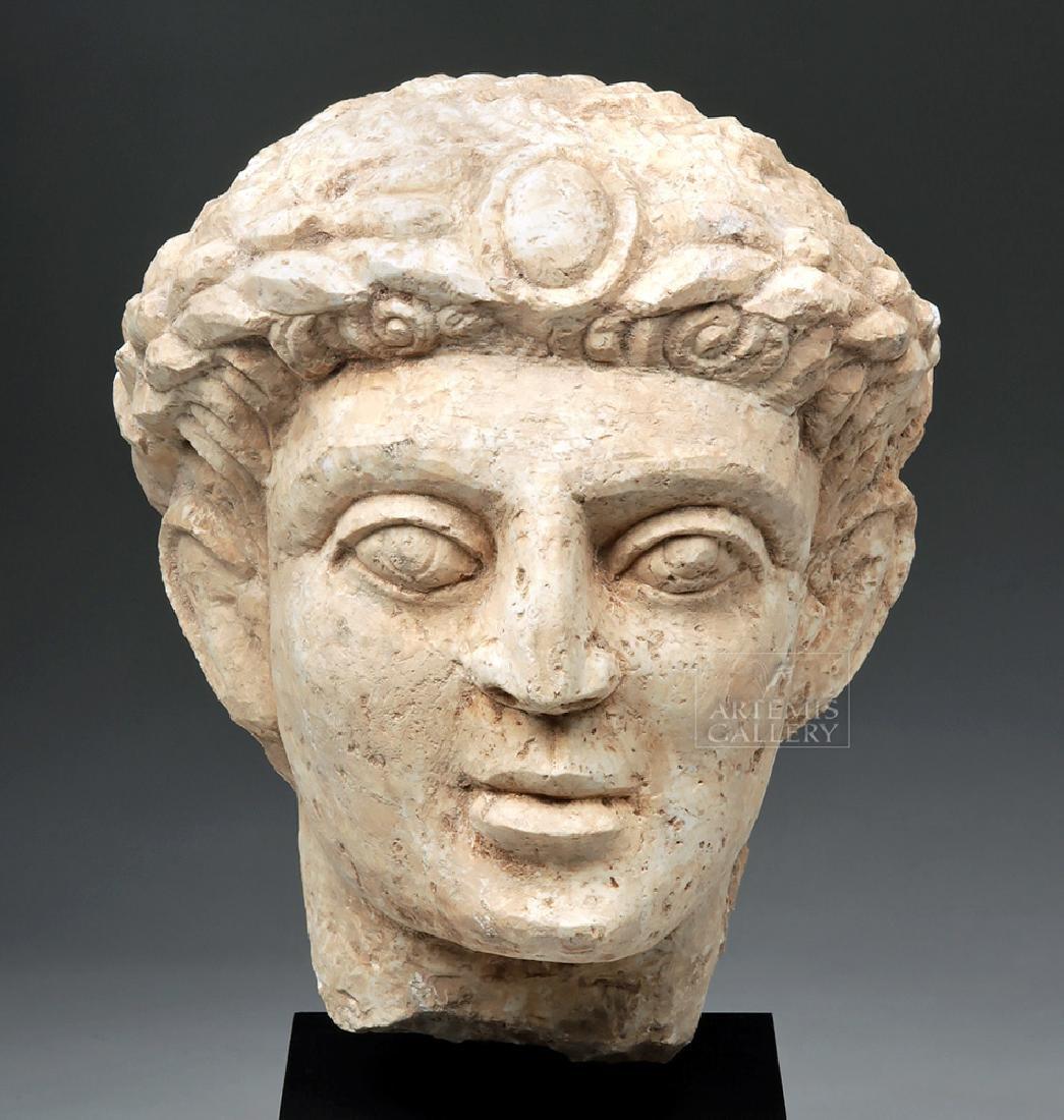 Lifesize+ Palmyrene Limestone Head - Masterpiece!