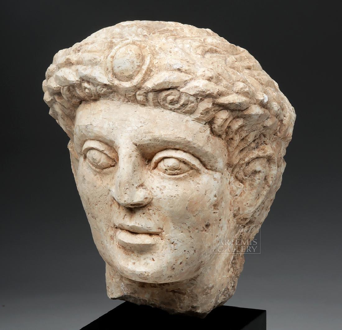 Lifesize+ Palmyrene Limestone Head - Masterpiece! - 2