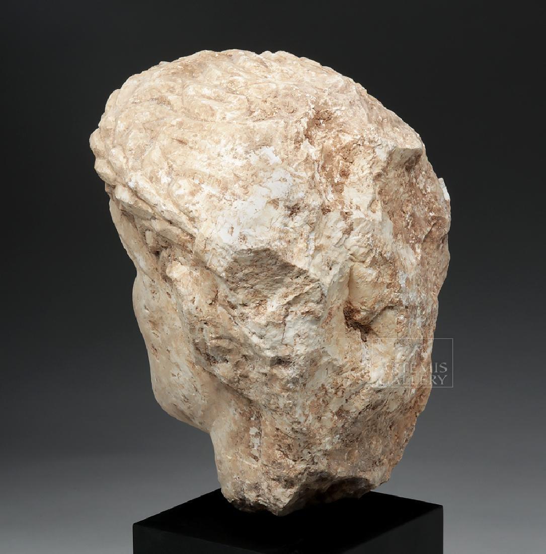 Lifesize+ Palmyrene Limestone Head - Masterpiece! - 3